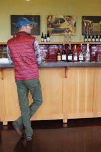 Matt Wieland, Wagon Wordsmith, tasting with winemaker Jim Prosser of J.K. Carriere