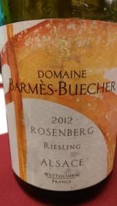 2012 Domaine Barmes-Buecher Rosenberg Riesling