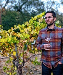 Matt Wieland in Santa Cruz AVA vineyard